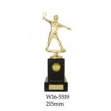 Table Tennis Trophies Female W16-5519 - 215mm