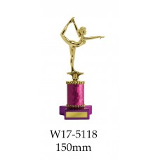 Gymnastics Trophies W17-5118 - 150mm Also 179mm & 204mm