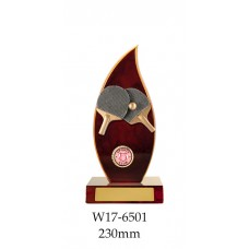 Table Tennis Trophies W17-6501 - 230mm Also 260mm & 290mm