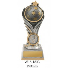 Soccer Trophies W18-1833 - 150mm Also 175mm & 200mm