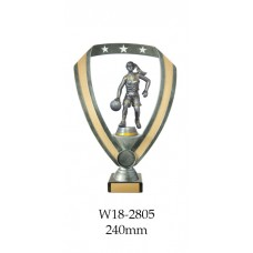 Basketball Trophies Female W18-2805 - 240mm Also 290mm, 315mm, & 350mm