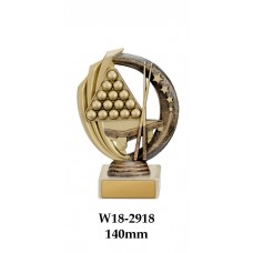 Billiards Snooker Trophies W18-2918 - 140mm Also 170mm, 195mm & 220mm