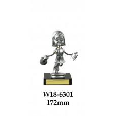 Ten Pin Bowling Trophies Female W18-6301 - 172mm