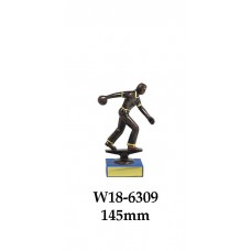Ten Pin Bowling Trophies Male W18-6309 - 145mm Also 175mm 200mm 225mm & 250mm