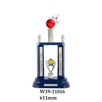 Ten Pin Bowling Trophy W19-11816 - 611mm Also 556mm & 531mm
