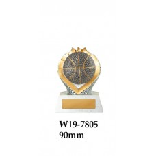 Basketball Trophies W19-7805 - 90mm Also 110mm 130mm
