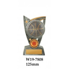 Basketball Trophies W19-7808 - 125mm Also 150mm & 175mm