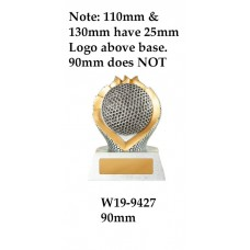 Golf Trophies W19-9427 - 90mm
