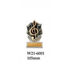 Music Trophies  - W21-6001 -105mm Also 140mm 189mm 210mm & 240mm