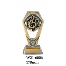 Music Trophies W21 - 6006 - 170mm Also 210mm & 230mm
