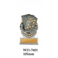 Playing Cards Trophies W21-7601 - 105mm Also 140mm 180mm 210mm & 240mm