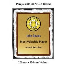 Plaque 815-4BN - 225mm x 175mm Walnut