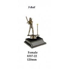 Baseball T-Ball Trophies 8357-22 Female - 150mm