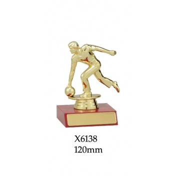 Ten Pin Bowling Trophy Male - X6138 120mm