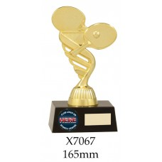 Table Tennis Trophies X7067 - 165 Also 180mm & 195mm
