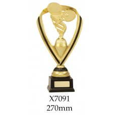 Table Tennis Trophies X7091 - 270mm Also 285mm & 300mm