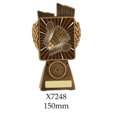 Badminton Trophies X7248 - 150mm Also 175mm 210mm & 245mm