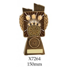 Darts Trophies X7264 - 150mm, Also 175mm 210mm & 245mm