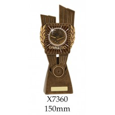 Gymnastics Trophies X7360 - 150mm Also 175mm 210mm & 245mm