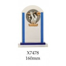 Darts Trophies Glass X7478 - 160mm Also 180mm & 210mm
