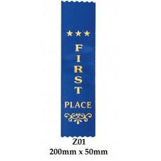 Sports Award Ribbons 1st Place - Z01 (Pk 25)