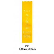 Sports Award Ribbons Fifth Place - Z06 - (Pk 25) 200mm x 50mm