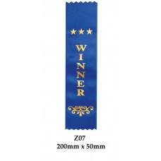 Sports Award Ribbons Winner - Z07 - (Pk 25) 200mm x 50mm