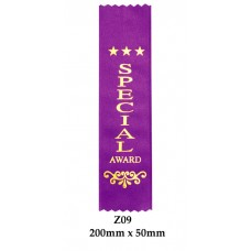Sports Award Ribbons Special - Z09 - (Pk 25) 200mm x 50mm