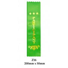 Sports Award Ribbons Participant - Z16 - (Pk 25) 200mm x 50mm