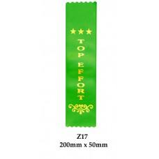 Sports Award Ribbons Top Effort - Z25 - (Pk 25) 200mm x 50mm