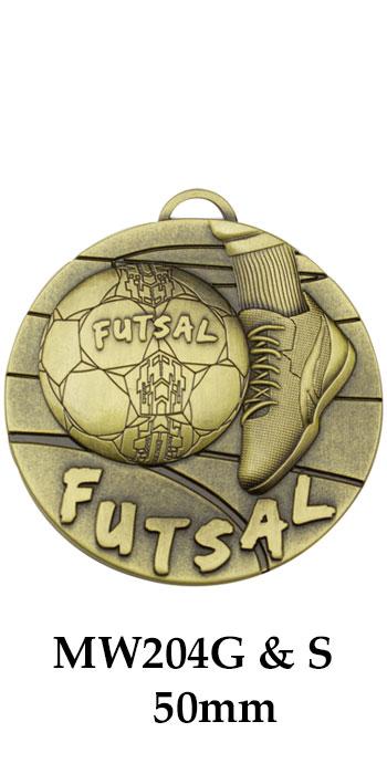 Soccer Medal Futsal MW204G & S - 50mm